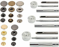 Snap Press Fastener Stud Popper Button Leather Bag Jacket Coat Fixing Tool Kit