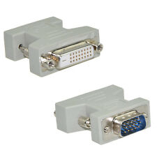 DVI Female (24+1) to VGA Male (15-pin) Connector Adapter- DVI to VGA