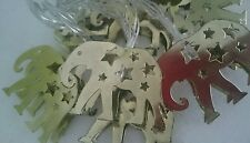 3D Gold Metal Elephant 10 LED Indoor String Fairy Lights Cutout Stars Party NEW