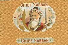 Chief Rabban  original vintage unused  cigar box label