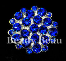 CRYSTAL RHINESTONE BUTTON PICK COLOUR SHANK BK TIARA MAKING BROOCH BOUQUETS