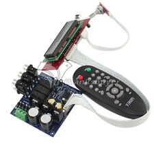 PGA2311 Stero Volume Preamp Remote Control Preamplifier Board with LCD for DIY