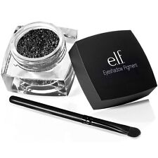 ELF Eye Pigment Loose Eyeshadow in Naughty Noire BLACK + Brush e.l.f. FREEPOST