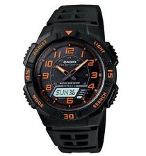 Casio Classic Watch * AQS800W-1B2 Tough Solar Anadigi Black Orange COD PayPal