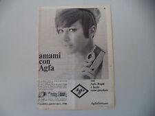 advertising Pubblicità 1966 AGFA RAPID