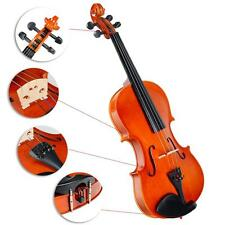 Full Size 4/4 Natural Acoustic Violin Fiddle with Case+Bow For Student US Ship