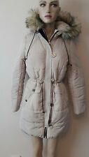 BEAUTIFUL QUIL PUFF PARKA NEUTRAL COAT FROM LIPSY SIZE 10 NEW