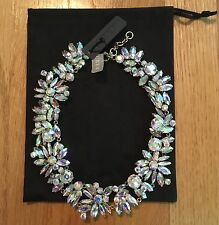 NWT J Crew Iridescent Crystal Cluster Statement Necklace Crystal ab $128 F4890