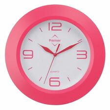 Hot Pink Wall Clock,Contemporary look/White face 1 x AA battery