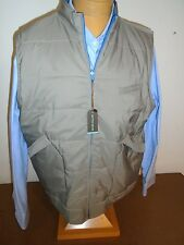 Peter Millar Pick Stitch Full Zip Reversible Quilted Vest NWT XL $495 Tan  Blue