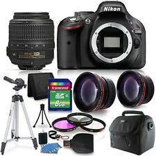 Nikon D5200 DLSR Camera (BLACK) w/ 18-55mm VR and More
