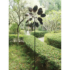 Metal Garden Spoon Wind Sculpture Spinner Windmill Yard Lawn Stake Kinetic