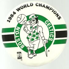 BOSTON CELTICS GIANT 6 INCH PIN 1984 NBA WORLD CHAMPIONS PIN