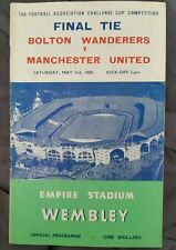 Bolton Wanderers v Manchester United 1958 F.A Cup Final Programme 03/05/58