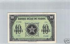 MAROC 10 FRANCS 1.3.1944 P1230 N° 193