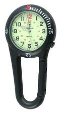 Luminous Clip on Carabiner Sprung Paramedic Nurses Doctors Sport Style Fob Watch