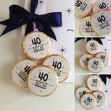 PERSONALISED BIRTHDAY ANY AGE CHOCOLATES FAVOURS/GIFT X 48,AVAIL IN ANY COLOUR