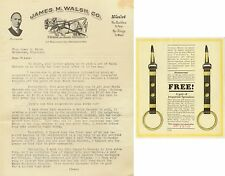 1920s James M Walsh horse harnes-collar dealer papers Milwaukee Wisconsin