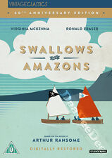 Swallows & Amazons NEW PAL Kids DVD Claude Whatham Virginia McKenna R. Fraser
