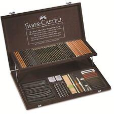 Faber Castell Art supplies PITT MONOCHROME wood case