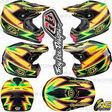 Troy Lee Designs 2015 Large LG L Air Helmet Charge Black Yellow Motocross Enduro