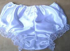 white satin knickers pants pantaloons french maid adult baby 34-42 bloomers