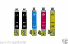 5 CARTUCCE COMPATIBILI PER STAMPANTE EPSON STYLUS OFFICE BX305FW BX305F T1281