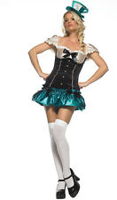 Sexy Teen Tea Party Hostess Fancy Dress Costume Hat & Dress Dress Size 4-6