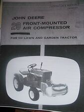 JOHN DEERE  20 Front-Mounted Air Compressor Manual for 110 Round OM-M41263