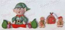 Karen Davies Sitting Elf  gingerbread house etc.Christmas Cake Sugarcraft Mould