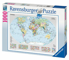 Ravensburger Puzzle Political World Map 1000 Pieces Kids TOY GIFT JIGSAW NEW