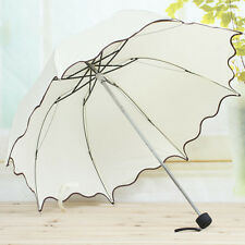 Hot Sale Flouncing Folding Lotus Leaves Princess Dome Parasol Sun/Rain Umbrella