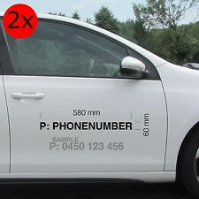 Your Phone Number Sticker
