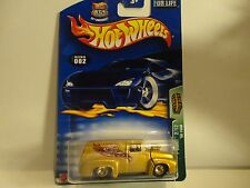 2003 Hot Wheels Treasure Hunt #2 Gold '56 Ford Panel Truck w/Real Riders