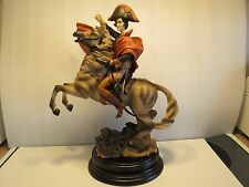 "Very Rare 16"" Napoleon Bonaparte on Horse Porcelain Ceramic Figurine, Excellent"