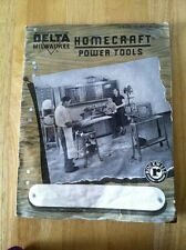 1952 DELTA MILWAUKEE HOMECRAFT POWER TOOLS CATALOG ROCKWELL