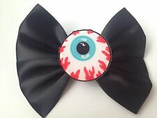 Pastel Goth Eyeball Hair Bow Eye Ball Creepy Cute Gothic Halloween