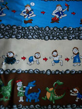 FUNNIEST CAVEMAN 100 %COTTON FABRIC HALF YARD/QUILTING FABRICS/SEWING SUPPLIES