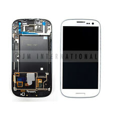 White Samsung Galaxy S3 i747 T999 LCD & Touch Screen w/ Frame Assembly NO LOGO