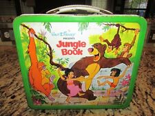 VINTAGE NICE OLD RARE 1968 DISNEY'S JUNGLE BOOK METAL LUNCHBOX