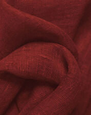 """Drapery Upholstery Fabric 100% Linen Solid 55"""" Wide - Crimson"""