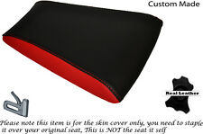 BLACK & RED CUSTOM FITS RIEJU RS3 125 REAR PILLION LEATHER SEAT COVER