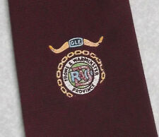 FROME & WARMINSTER PROVINCE BUFFS RAOB TIE VINTAGE RETRO BURGUNDY 1970s 1980s