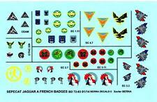 Berna Decals 1/72 SEPECAT JAGUAR A FRENCH SQUADRON BADGES Part 1