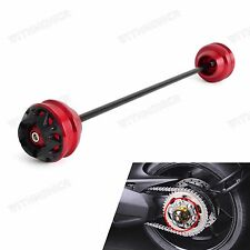 Red Rear Axle Wheel Fork Protector Sliders For Ducati Multistrada 1200/S 10-2016