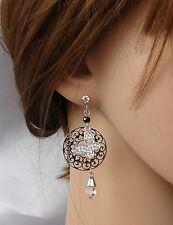 ELEGANTE Orecchini argento  farfalla strass ,cristalli ,donna,idea regalo
