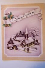 VINTAGE 1940s CHURCH SIGNED CHRISTMAS GREETING CARD #307