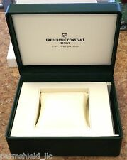Frederique Constant Green and Cream Leather Watch Box Complete New