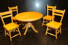BEAUTIFUL ROOM SET 1/12th DOLLS HOUSE FURNITURE VINTAGE RETRO KITCHEN TABLE