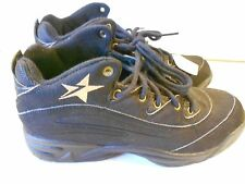 NOS Vtg Converse Cons Basketball Shoes Size 8 1/2 Men's Black Gold Star Wow!